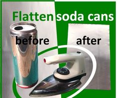 Flatten Soda Cans This Instructable shows you an easy way to flatten soda cans completely and turn them into shiny sheets of aluminum that you can use in your DIY craft projects The reason for presenting a solution how to flatten soda cans is that af - d Recycle Cans, Recycling, Repurpose, Aluminum Can Crafts, Metal Crafts, Pop Can Crafts, Fun Crafts, Upcycled Crafts, Recycled Art