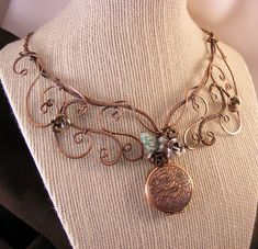 copper jewelry wire necklace