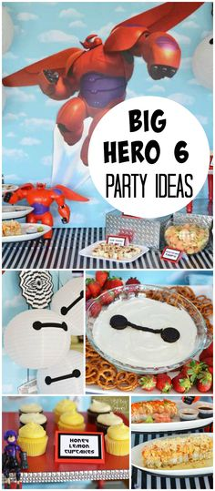 This Big Hero 6 Party Has Sushi And Fun Decorations See More Planning Ideas