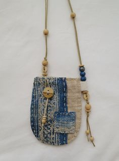 Indigo dyed hemp Talisman Pouch by Indinoco on Etsy…