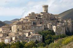 Santo_Stefano_di_Sessanio-M_Anselmi    Santo Stefano di Sessanio is a comune and hill town in the Province of L'Aquila in the Abruzzo region of Italy