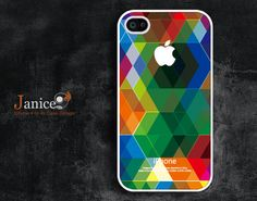 iphone 4 case iphone 4s case iphone 4 cover call phone case green style  abstract colors unique Iphone case. $13.99, via Etsy.
