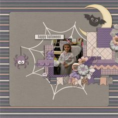 Layout using Keep Calm and Spook On! by Blue Heart Scraps http://store.gingerscraps.net/Keep-Calm-and-Spook-On.html
