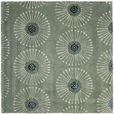 Amazon.com: Safavieh Soho Collection SOH821C Handmade Grey and Ivory Premium Wool Area Rug (5' x 8'): Home & Kitchen
