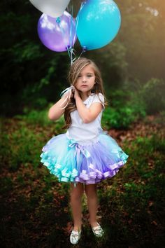 Ribbon Tutu, Aqua and Purple Skirt, Birthday Outfit, Dance Costume, Photo Prop, Cake Smash, Blue and Lavender Skirt, Toddler Gift, TC-03 by VanahLynnDesigns on Etsy