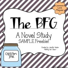 This sample of my best-selling novel study for The BFG contains student work for Chapters as well as a Figurative Language activity. 2nd Grade Books, Third Grade Reading, Grade 3, Fourth Grade, Second Grade, The Bfg Book, Book Club Books, Book Clubs, Reading Strategies