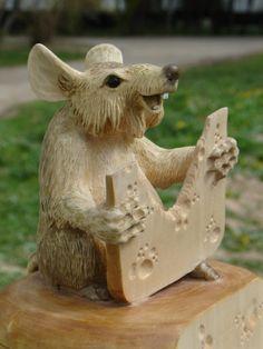 Деревянная анималистическая скульптура - Александр Крячко