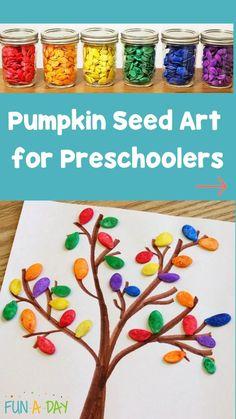 K Crafts, Diy Crafts For Kids, Fall Crafts, Nature Crafts, Pumpkin Art, Pumpkin Colors, Painting For Kids, Art For Kids, Fall Classroom Decorations
