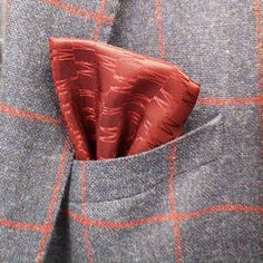 It's all about the details. Add a bit of colour to your top pocket! Men's Pocket Squares, Weekend Wear, Tweed, Reusable Tote Bags, Colour, Detail, Casual, How To Wear, Top