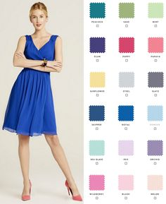 Request free color swatches to see our shades in person! Choose from 10 gorgeous styles in 18 colors so your bridesmaids can mix and match. Union Station: Bridesmaids dresses you can rent or buy.