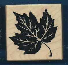 PSX Maple Leaf E 1046 Santa Rosa CA Personal Stamp Exchange Wood Craft Rubber | eBay $6.99