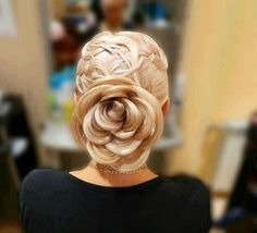 White and Gold Wedding. Bridesmaid Hair. Hair style