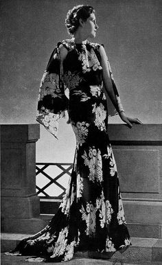 "Les Modes (Paris) 1936 ""Distinction"" Robe du Soir par Germaine Lecomte"
