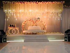 Wedding Decorators in Nathupur, Gurgaon - Celebrations Concept Pvt. Wedding Decorators in Nathu Reception Stage Decor, Wedding Backdrop Design, Desi Wedding Decor, Wedding Hall Decorations, Wedding Stage Design, Luxury Wedding Decor, Wedding Reception Backdrop, Backdrop Decorations, Flower Decorations