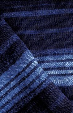 Deep #blue dyed fabric.