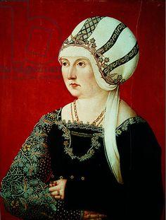 Barbara Wespach, 1500 (oil on canvas)  Title:  German School, (16th century)  Primary creator:  German  Nationality:  Staatsgalerie, Stuttgart, Germany
