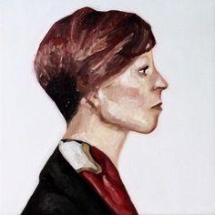 Maria Cruz Artwork  fine art oil on canvas painting  portrait observation human figure