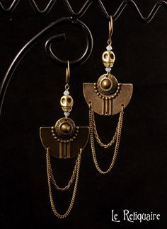 Antique Jewellery Designs, Antique Jewelry, Jewelry Design, Aztec Jewelry, Aztec Art, Wire Wrapped Earrings, Polymer Clay Jewelry, Crane, Metal Working