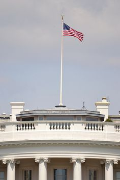 American Flag on top of the White House Washington, D.C.  by RYANISLAND, via Flickr