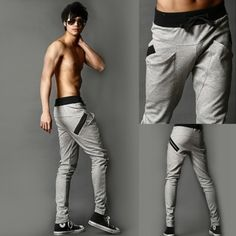 les hommes refroidir pantalons de harem pantalon skinny legging sportives Straight Fit pantalon de survêtement