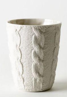 knitting inspired ceramics