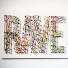 DIY typographic string art from Man Made DIY.  I did a simple version of this many, many years ago.  Forgotten all about it.  This is really neat.  Someone did one not long ago on the Nate Berkus show that was also a work of art.