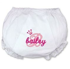 Personalized Baby Bloomers Diaper Cover Monogrammed by parsik93, $12.99
