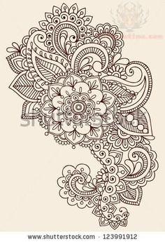paisley tattoo | Paisley Pattern Henna Mehndi Tattoo Design