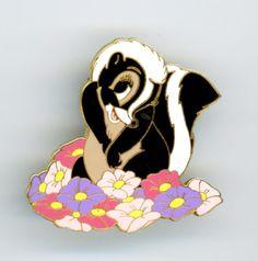 Disney Pin Trading Bambi Flower 2002 Enamel Lapel Pin