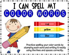 Color word centers + Color day fun (beg. or end of year?)