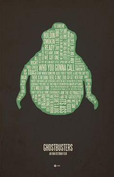 37 Posters. Posters made from movie and TV quotes, arranged artfully.