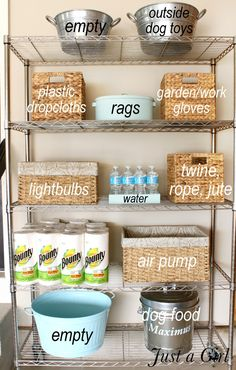 Are you a person that has a messing garage that is not prepared. Below are 42 garage storage ideas that will absolutely help you organize your garage like a champ. Diy Garage Storage, Garage Shelving, Garage Shelf, Laundry Room Storage, Garage Organization, Storage Room, Storage Ideas, Organization Ideas, Organized Garage