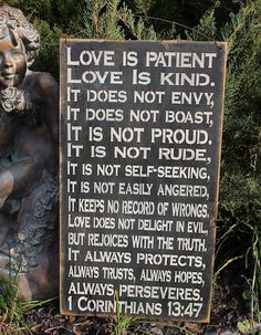 Love is Patient Love is Kind Corinthians Wedding Love Prayer