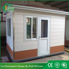 Guard house WhatsApp: +8618620106756 Steel Structure Buildings, Guard House, Coffee Bar Home, Portable Toilet, Money Box, Prefab Homes, Syria, Garage Doors, Construction