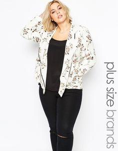 Carmakoma+Plus+Size+Calca+Blazer+In+Floral+Print