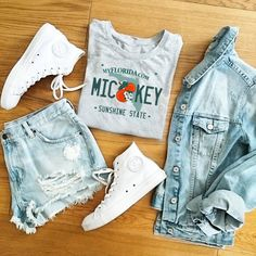 Shop for trendy swimwear, clothing and accessories for women at affordable prices Cute Disney Outfits, Disney World Outfits, Disneyland Outfits, Disney Clothes, Disney Inspired Outfits, Mickey Shirt, Mode Outfits, Trendy Outfits, Hipster School Outfits