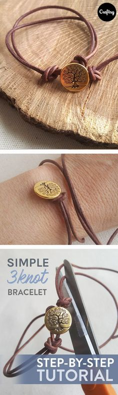 What mom doesn't love a beautiful new piece of jewelry? This button knot bracelet is easy enough for even the newest jewelry maker, but jewelry experts will appreciate how quickly this bracelet comes together. Make this great gift for Mother's Day.
