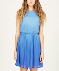 Take a look at this Sky Blue Sorbet Ombré Dress by Sugarhill Boutique on #zulily today!