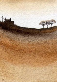 Gold 2, Watercolor painting by JULIE MORRIS | Artfinder