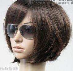Short Bob Dark Brown..Wish i had this much hair