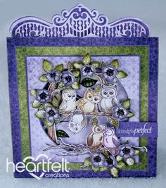 Heartfelt Creations | Owls And Plum Blooms