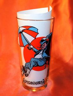 VTG Pepsi Super Series Drinking Glass DC Comics Penguin 16oz 1976 MINT