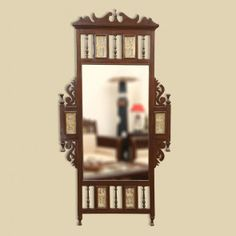 ExclusiveLane Teak Wood Maharaja Wall Mirror with Dhokra Work in Walnut Brown Wall Mirrors Decorative for Living Room Bedroom Bathroom Dressing Traditional Dressing Tables, Traditional Mirrors, Simple Furniture, Home Decor Furniture, Wood Furniture, Garden Furniture, Furniture Ideas, Brown Wall Mirrors, Antique Furniture