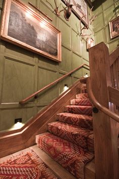 Lake Placid Lodge, New York. I love walking down these stairs every New Years, because I know a great meal is in store.  #rustic #lodge #LoveLakePlacidLodge