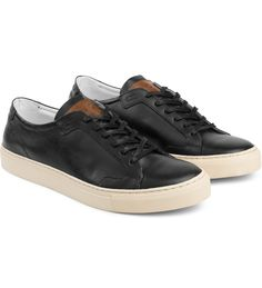 Black/Cream Ica Low Top Sneakers