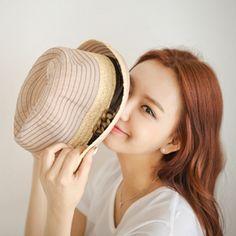 Korea womens shopping mall [styleberry] cotton fedora / Size : FREE / Price : 21.84 USD #cotton #fedora #accessory #korea #fashion #style #fashionshop #styleberry #lovely
