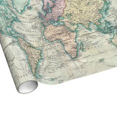 Vintage Map of The World (1801) Wrapping Paper