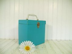 Vintage Bright Turquoise Paper Covered PlatterPak by DivineOrders, $39.00