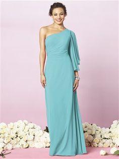 Long luxe chiffon dessy dress