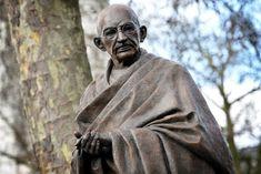 Closeup view of the Mahatma Gandhi statue now in London's Parliament Square. Photo: ©British Crown copyright/Arron Hoare.